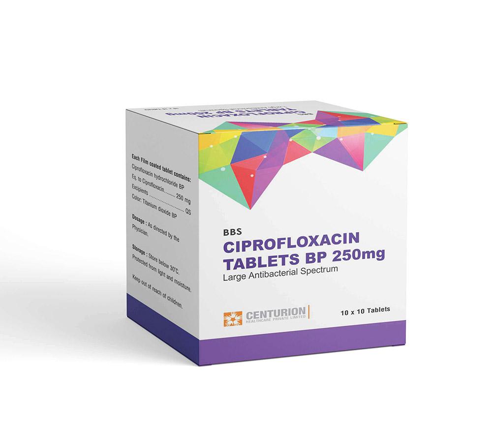Ciprofloxacin Tablets BP 250mg