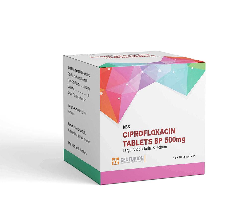 Ciprofloxacin Tablets BP 500mg