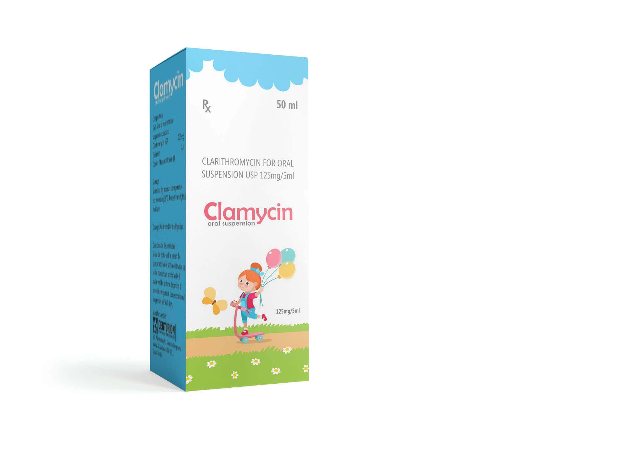 Oral Suspension USP 125mg per 5ml Clarithromycin