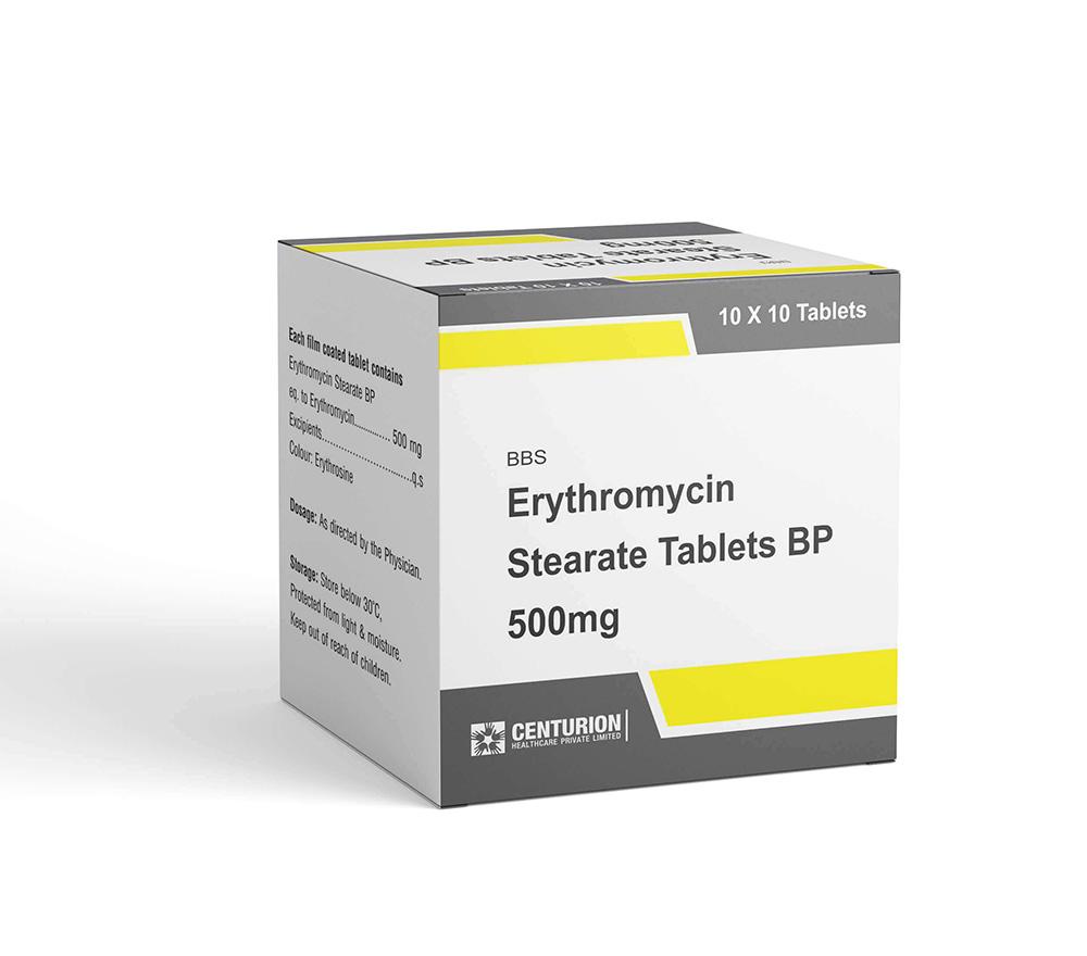 Erythromycin Stearate Tablets BP 500mg