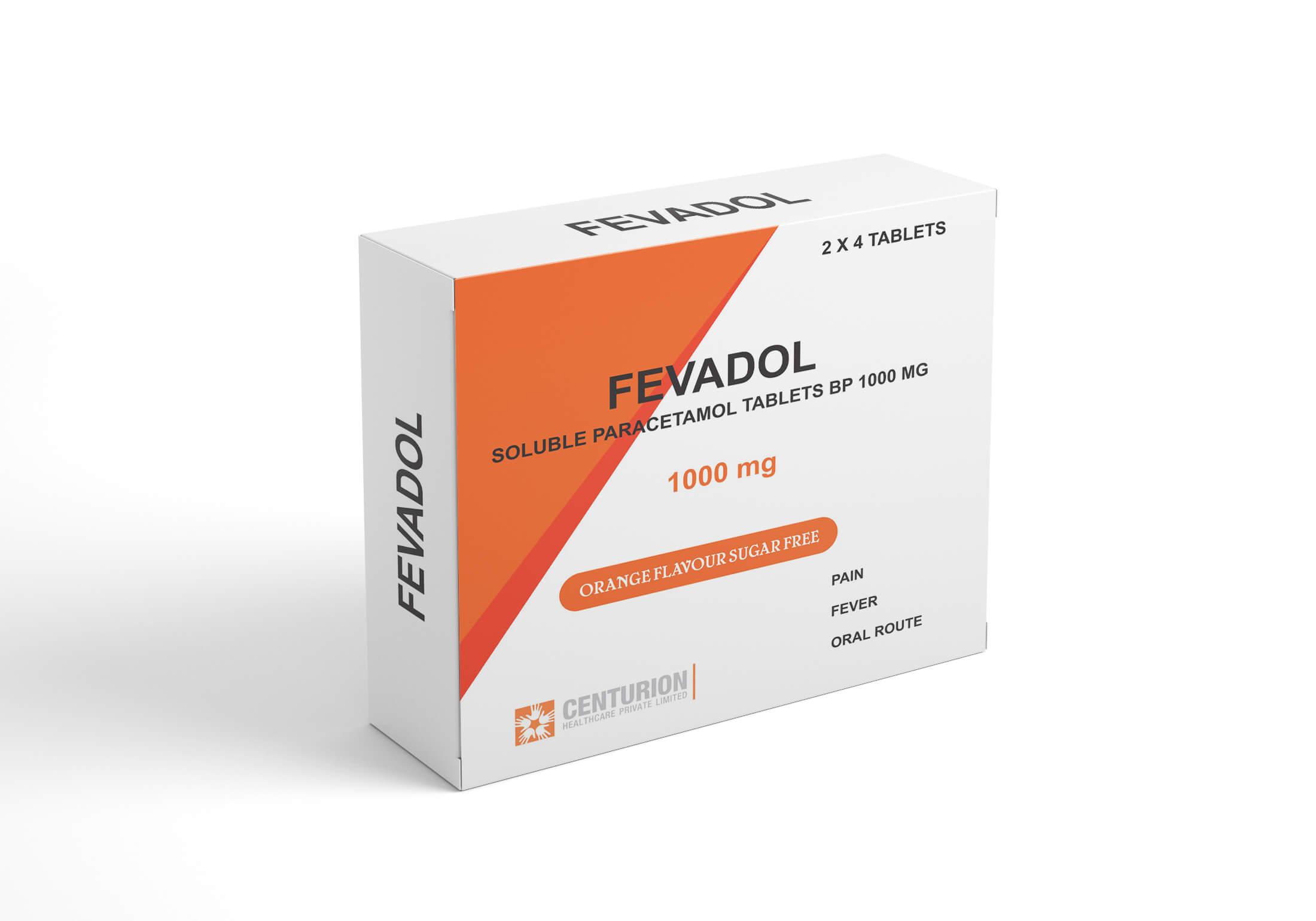 Fevadol 1000mg Tablets