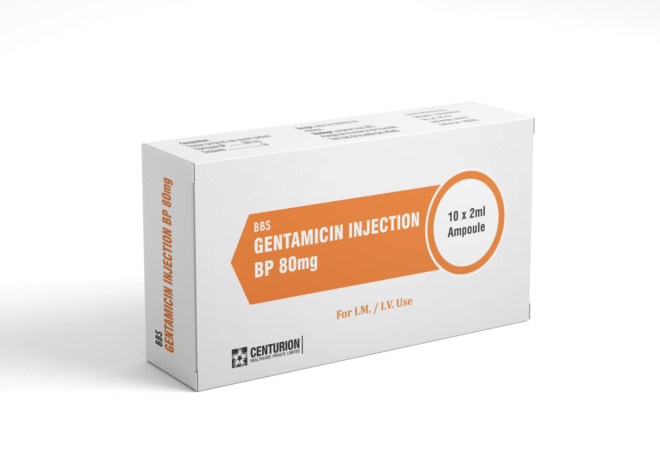 Gentamicin Injection BP 80mg